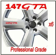 ALFA ROMEO 147 GTA CAR WHEEL DECALS